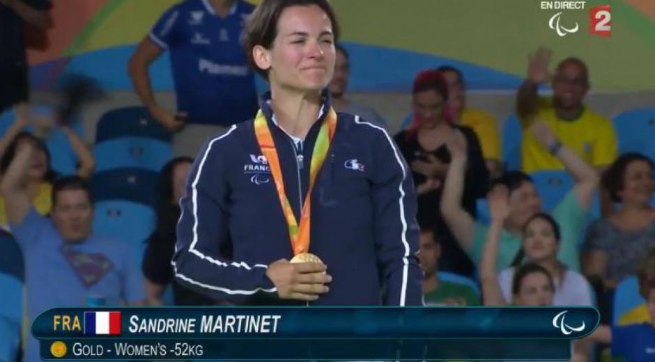 Sandrine MARTINET Médaillée d'or aux Jeux paralympiques de RIO (2016)